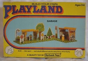 Vintage 1970's Burbank Toys Build Your Own Playland Boxed Unused GARAGE