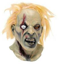MENS MAD EYE MOODY SCARY ZOMBIE MONSTER HALLOWEEN COSTUME LATEX MASK & HAIR NEW