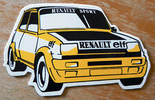RENAULT 5 TURBO RALLYE Motorsport sticker / Autocollant