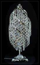 Echtes Kristall  Nachttisch Schreibtisch Lampe Tischlampe Gold oder Silberfarben