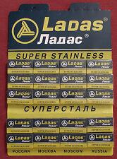 LADAS 100 Super Stalness Double Edge Razor Blades 20 packets of 5 for shaving