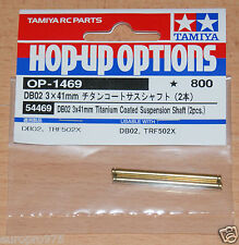Tamiya 54469 DB02 3x41mm Titanium Coated Suspension Shaft (2 Pcs.) (TRF502x) NIP