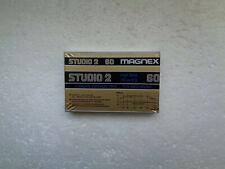 Vintage Audio Cassette MAGNEX Studio 2 60 * Rare From Italy 1980's * The Rarest!