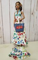 BohoChicBarbie Fashion floral Halter Dress Stole & accessories