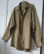 Joseph Abboud Egyptian Cotton Khaki Bayleaf Green Button Shirt 17  34/35