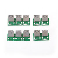 10Pcs USB 2.0 To DIP 4P 2.54MM PCB Board Adapter Converter For Arduino DIY TE