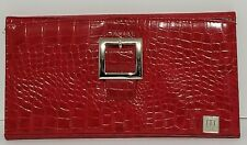 Miche Purse Hard Shell RED Reptile Snake Skin of Faux Leather NO BAG Changeable