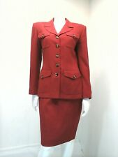 EVAN PICONE Women 2 Piece Red Skirt Suit Size 4