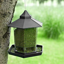 Plastic Hanging Bird Feeder Outdoor Garden Hummingbird Feeding Platform Decor