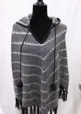 BCBG Max Azria Knit Poncho Black Gold Grey NWT $145