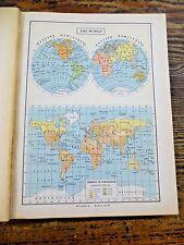 1942 To 1947 World Atlas Encyclopedia Britannica Oversized WWII W/ Extras