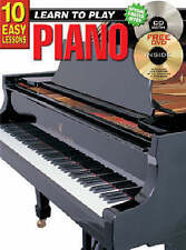10 Easy Lessons Learn To Play Piano Bk/CD - Same Day P+P