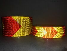 Red & Yellow Arrow High Intensity Reflective Tape Self-Adhesive Waterproof UK