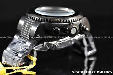 "Invicta Men's 52mm Pro Diver ""Dark Knight"" Combat Seal Chrono Bracelet SS Watch"