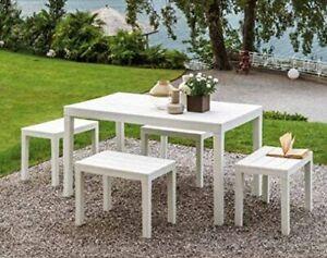 ✅ Tavolo da Giardino Veranda Resistente Solido per Esterno Interno Rettangolare