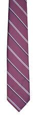 Men's New Neck Tie, silk, Skinny, Pink Gray stripe design by Austin Manor