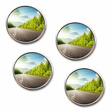 """Zone Tech 4x 2"""" Round Stick On Rear-view Blind Spot Convex Wide Angle Mirrors"""