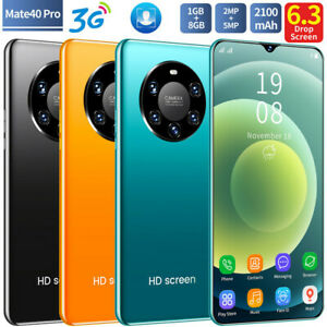 Cheap Factory  Smartphone Mate40 Pro Android Cell Phone Dual SIM Quad Core 16GB
