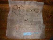 Lot of 3 Pair Vintage Nose Clip Eyeglasses 1 w/ Hair Pin, 1 with chain, other wi