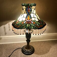 Tiffany Art Nouveau Style Table Lamp, Coloured Individually Leaded Glass Shade
