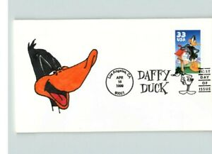 Hand Painted DAFFY DUCK, Looney Tunes, First Day of Issue