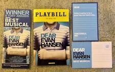 Dear Evan Hansen Xmas package *Ben playbill* *DEH post card and DEH Flyer*