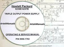 HP 6236B 6237B Triple Output DC Power Supply Operating & Service Manual