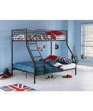 New Home Triple Sleeper Bunk Bed Frame in Black