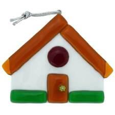 GlassOfVenice Murano Glass House Christmas Ornament - Golden Brown