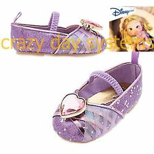 New Disney Store Glamorous Rapunzel Dress Up Shoes Size 5 Baby Girl 12/18 Months