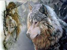 5D Diamond Painting Full Drill Beauty And Wolf Arts Picture Home Wall Decoration