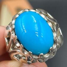Natural Feroza Ring Original Turquoise ring Real Feroza Stone Ring for Men's