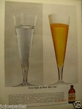 1962 Olympia Original Print Ad-Ever Look At A Beer This Way?-8.5 x 10.5""