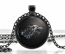 Game of Thrones Necklace Pendant House of Stark Black Wolf Jewelry Best Gift New
