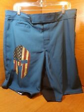 Warrior X Gear Spartan Valor, Black & Blue W/Flag helmet Mens Shorts New Size 36