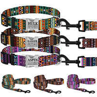 Personalized Dog Collar Nylon Custom Engraved Collars for Dogs Puppy S M L Lead