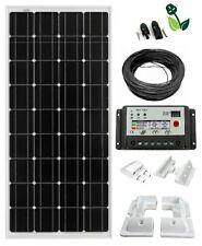 150W Solar Panel Kit Mono Dual Battery Charge Control Kit White Mounting Bracket
