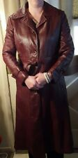 Vintage 1970s womens patchwork leather trench coat.