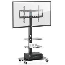 FITUEYES 32-65 inch Mobile TV Stamd Trolley Cartfor LED LCD QLED Plasma Flat TVs
