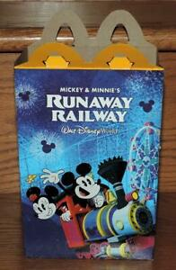 "2020 DISNEY ""MICKEY & MINNIE'S RUNAWAY RAILWAY"" McDONALD'S HAPPY MEAL PROMO BOX"