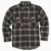 YAGO Men's Casual Plaid Flannel Long Sleeve Button Up Shirt Brown/A22 (S-5XL)