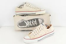 NOS Vtg 90s Converse All Star Low Ox Shoes Hunter S Thompson White USA Mens 9