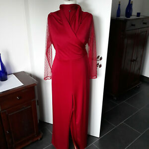 Einteiler Overall Damenoverall Jumpsuit Gr. XXL rot dunkelrot Neu ungetragen