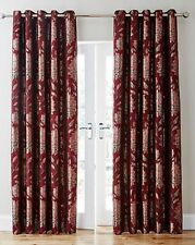 "NEW Elanie Luxury Lined Eyelet Curtain 229 x 229 cm (90x90"") Red"