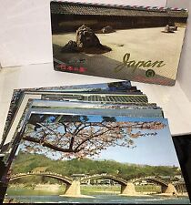 """Lot of 20 Japan Picture Post Cards, 9 3/4"""" x 5 3/4"""" ~ Beautiful Color Photos!"""