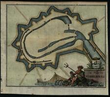 Middelburg Netherlands Neptune trident sea monster 1697 Harrewyn city plan map