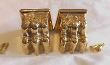 1 Pair LIONS PAW CLAW FOOT Heavy BRASS Foot End Cap for Table Legs