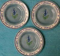 "Royal Stafford ""Bluebell"" Fine Earthenware Lot of 3 Plates, D=7"", Made in Englan"