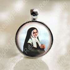 St. Bernadette Catholic Medal Pendant / Charm Cabochon Religious Jewelry
