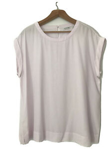 Gorgeous Country Road Powder Pink Silk Top, XL